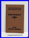 1936 Chevrolet Truck Operators Manual