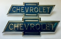1936 1937 1938 Chevrolet Truck Hood Side Emblems PAIR
