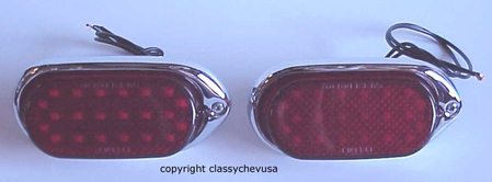 1940 Chevrolet Car LED red Tail Light Assemblies - 2 Pieces