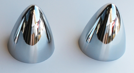 2 Bullet Nose Hub Cap Centers - C8054