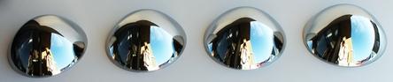 4 Bullet Nose Hub Cap Centers - C8052