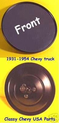 1931-54 Chevrolet Truck Mirror - ROUND -  Black - 5""