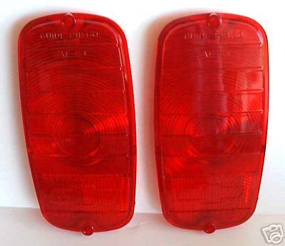 1960-66 Chevrolet Truck Fleetside Red Tail Light Lenses - PAIR