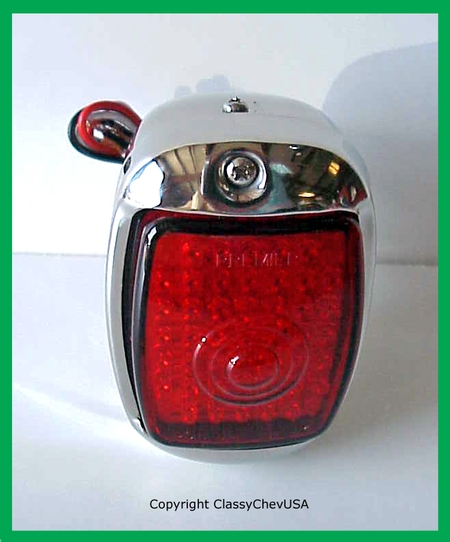 1940-53 Chevrolet Truck Tail Light Assembly - Stainless Steel - Red LED Lens - RIGHT
