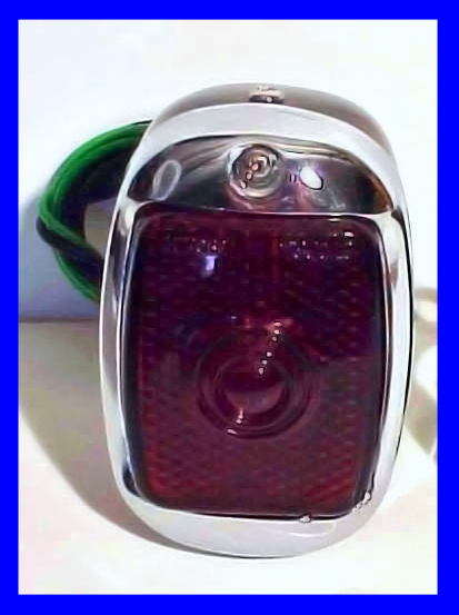 1940-53 Chevrolet Truck Tail Light Assembly - Black Casing - Red Glass Lens - LEFT