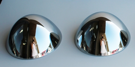 2 Bullet Nose Hub Cap Centers - C8053