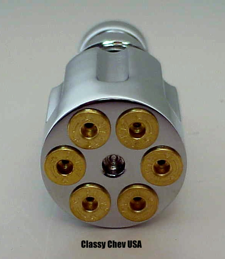 Simulated Revolver Style Chrome Cigarette Lighter