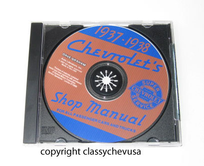 1937-1938 Chevrolet Car and Truck Shop Manual CD