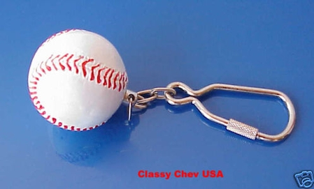 "BASEBALL Keychain 1 1/4"" Hot Rat Rod"