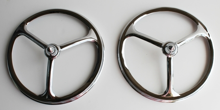 "7"" BULLET Chrome TriBar Headlight Covers - PAIR"
