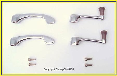1940-46 Chevrolet Truck Window Cranks & Door Handles - WITH SCREWS