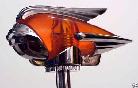 Art Deco Chrome Fender Guides - LED Amber - PAIR