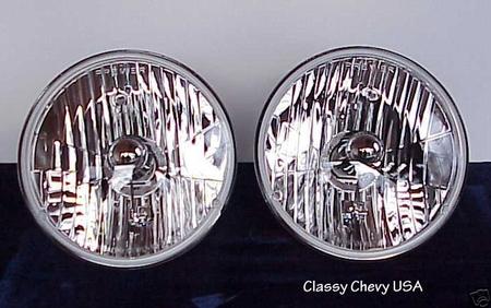 1955-57 Chevrolet Halogen Headlights 12V - PAIR