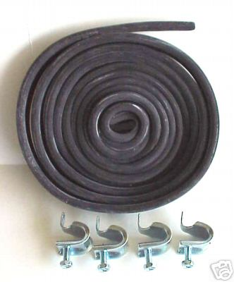 1955-1957 Chevrolet Rubber Fender Skirts Mounting Kit with Clamps