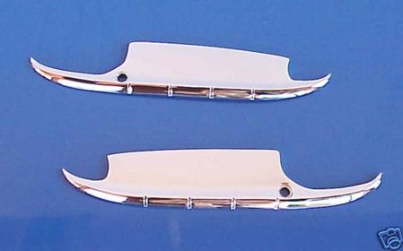 1955-56 Chevrolet Door Handle Guards - Chromed Steel