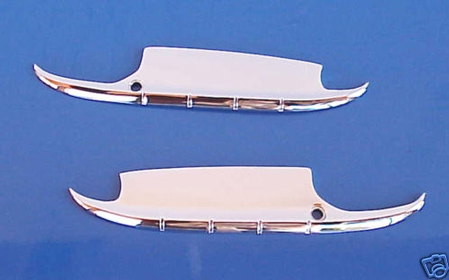 1955-1956 Chevrolet Door Handle Guards - Chromed Steel