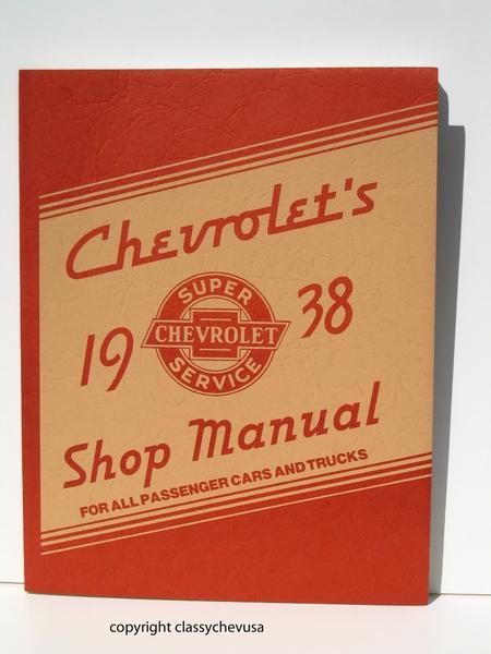 1938 Chevrolet Passenger Car & Truck Shop Manual