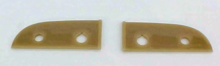 1941 Chevrolet Car Choke & Throttle Backing Plates - Ivory - PAIR