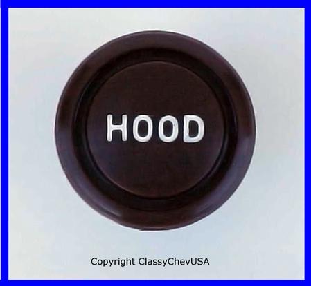1940-48 Chevrolet Car Plastic Reproduction Hood Release Knob