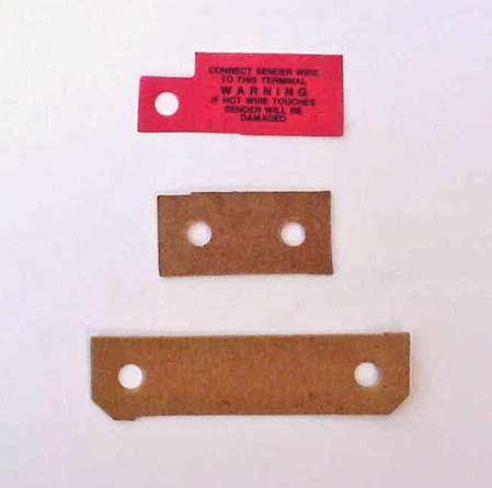 1941-46 Chevrolet Truck Dash Gauge Insulator & Warning Label Set - 3 PC