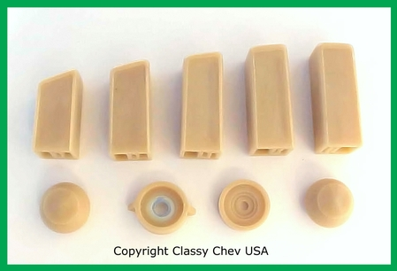 1949 Chevrolet Car Radio Knobs & Push Button Set - 9 PC