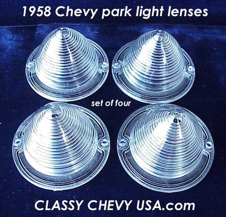 1958 Chevrolet Car Park Light Lense 4 Pieces