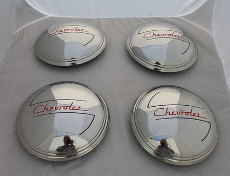 1937 1938 Chevrolet 1/2 ton truck hubcaps 4PC Stainless Steel