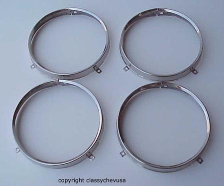 1961-1967 Chevrolet Headlight Sealed Beam Retaining Rings