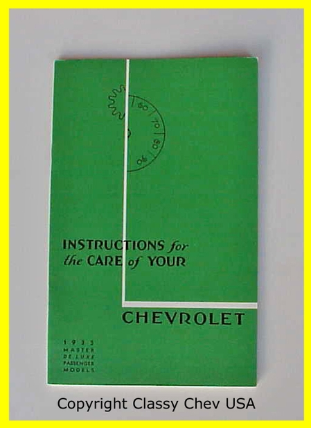 1935 Chevrolet Car Manual