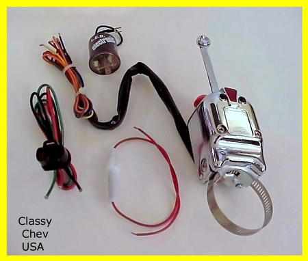 Heavy Duty Universal Turn Signal Switch 3 PC KIT - 12V