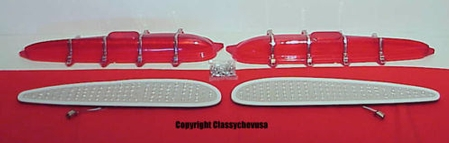 1959 Chevy Car Tail Lights LED's Lenses, & Hardware set