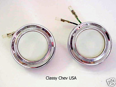 1962-66 Chevy Interior DOME Light Assemblies NEW pair
