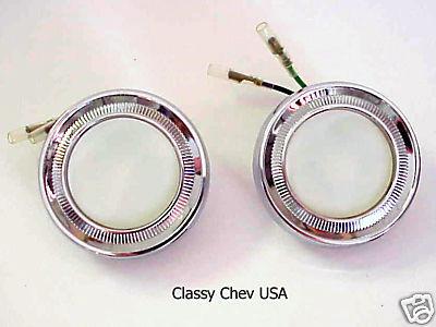 1962-1966 Chevy Interior DOME Light Assemblies NEW pair