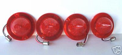 1960-1961 Chevy Chevrolet LED 4 tail lights Red