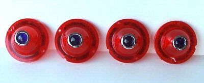 1958 Chevrolet Impala Red Blue Dot Lenses - 4 PC