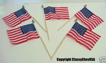 Set of 5 American 50 star Flags - GREAT QUALITY!