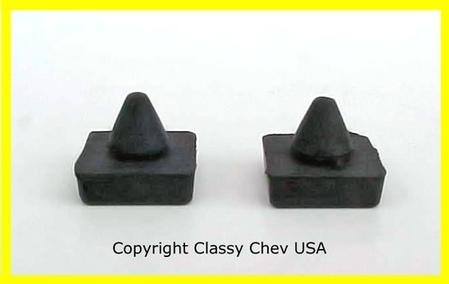 1964 65 66 67 68 69 70 71 72 Chevrolet Truck Window Stop Bumpers PAIR
