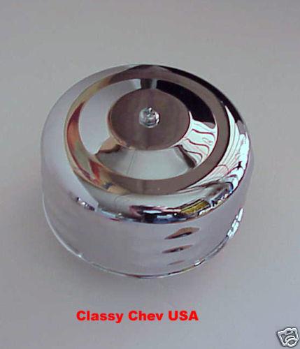 "Chrome Bullet AIR CLEANER NEW HIVE 1 bbl 2 5/8"" 1p LV"