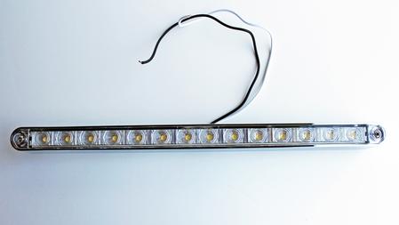 """14"""" LED License Plate Frame Light Bar Chrome Bezel White LEDs"""