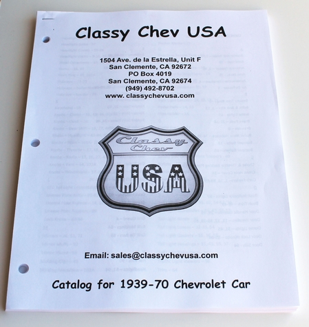 1939 - 1970 ClassyChevUSA Catalog for Cars