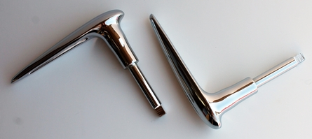 1934-1938 Chevy PANEL TRUCK Exterior Chrome Door HANDLES 2 PC