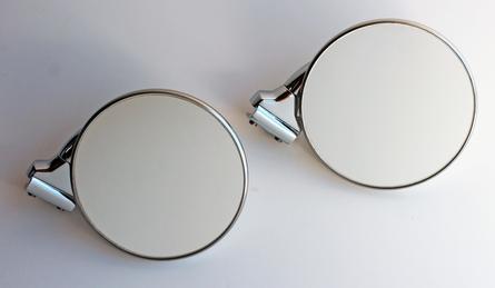 """4"""" Peep Mirrors - Stainless Steel - Pair"""