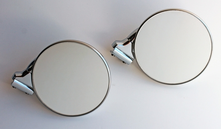 "4"" Short Arm Peep Mirrors - Stainless Steel - Pair"