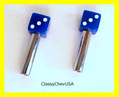 Blue Dice Door Lock Knobs - 2 Pieces