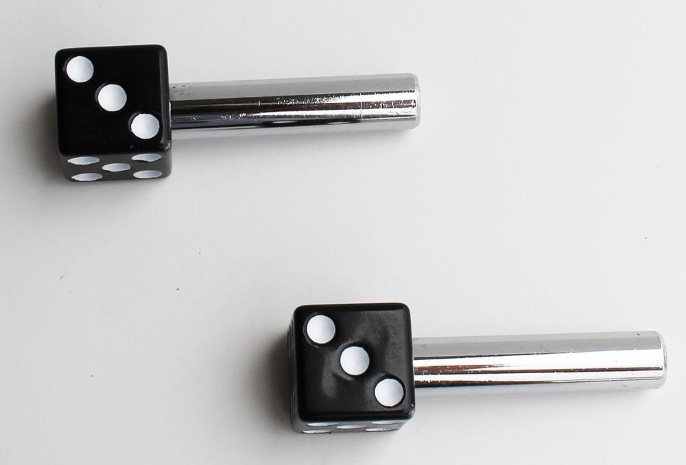 Black Dice Door Lock Knobs - 2 Pieces