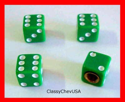 Green Dice Valve Stem Covers