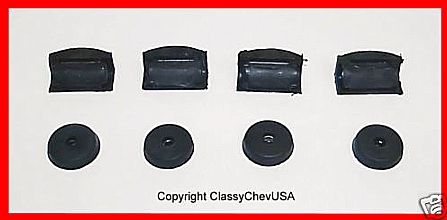 1936-1946 Chevrolet Truck Door Bumper Kit - 8 Pieces - #306S