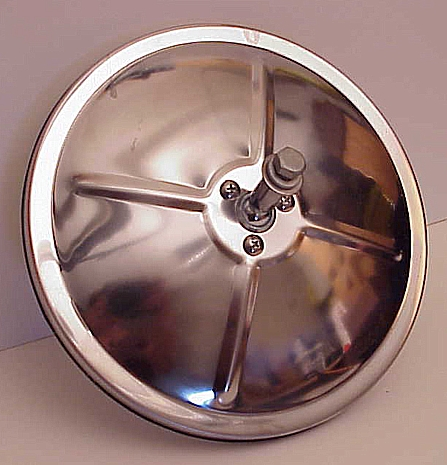 "7"" Convex Truck Mirror Stainless Steel Center Mount"