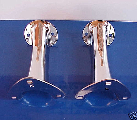Model A Ford Tail Light Brackets - PAIR - Chrome