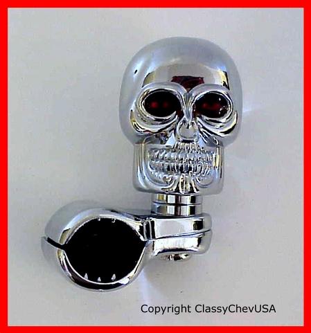 Skull Suicide Spinner Brodie Necker Knob Chrome